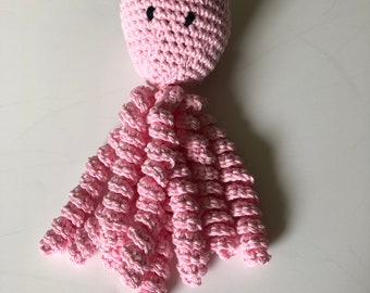 Crochet Octopus for Preemies, Crochet Octopus for Babies in Pink Color, Crochet Amigurumi