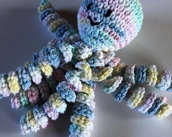 Crochet Octopus for Preemies, Crochet Octopus for Babies in Yellow, pink, light blue, Crochet Amigurumi, NICU Octopus