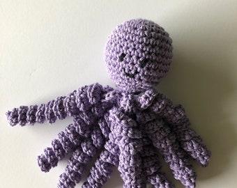 Crochet Octopus for Preemies, Crochet Octopus for Babies in  Purple Color, Crochet Amigurumi