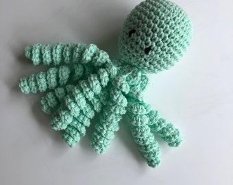 Crochet Octopus for Preemies, Crochet Octopus for Babies in Mint Green, Crochet Amigurumi, NICU Octopus