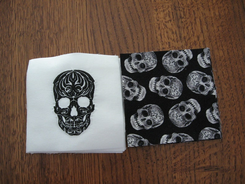 Halloween Skulls for Quilting Mini Charm Pack