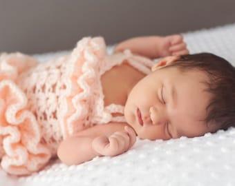 PDF Crochet Pattern for Ruffled Petti Romper Sizes Newborn to 2t, Newborn Girl Crochet Pattern, Baby Girl Crochet Pattern
