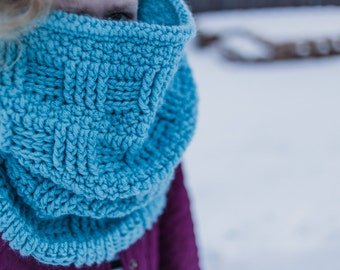Cowl Crochet Pattern, Scarf Crochet Pattern, Infinity Scarf Crochet Pattern, Many Sizes, Permission To Sell Finished Items
