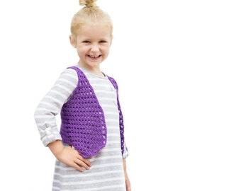 PDF Crochet Pattern for Her Favorite Vest - 12 months to 6 years Permission To Sell Finished Items