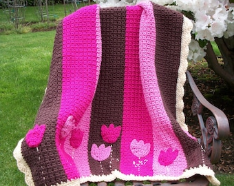 Baby Girl Blanket Crochet Pattern, Newborn Blanket Crochet Pattern, Permission To Sell Finished Items