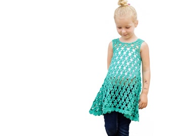 PDF Crochet Pattern for Chloe Summer Dress/Tunic - Size 2t to 6yrs -  Permission to Sell Finished Items