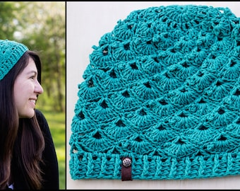 PDF Crochet Pattern for Adorkable Slouchy Beanie - Toddler to Adult - Permission To Sell Finished Items