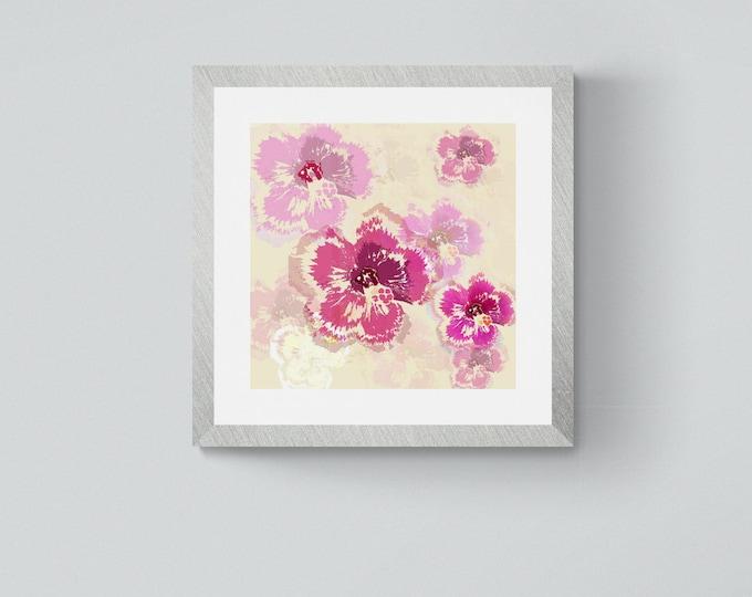 Hibiscus square framed print