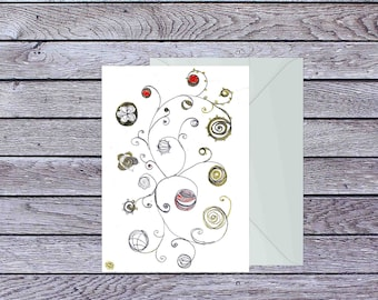 Baubles blank greeting card