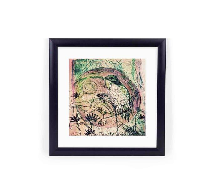 IBIS giclee print square frame