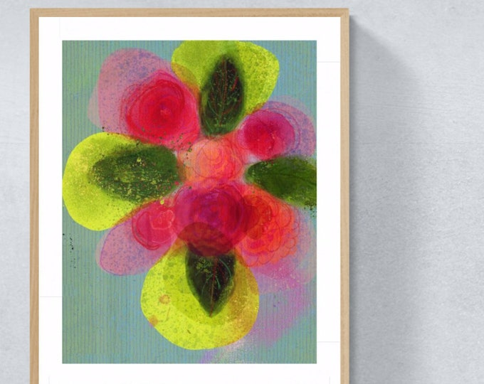 Featured listing image: Bouquet framed art print