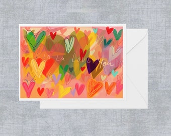 Hearty A6 blank greeting card