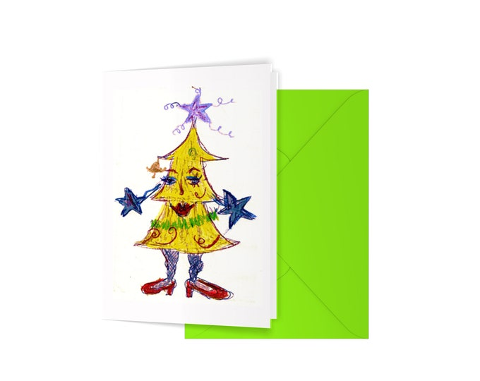 Miss Chriss Mess blank A6 greeting card