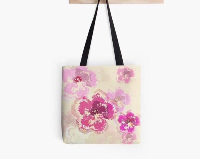 Hibiscus floral Tote bag