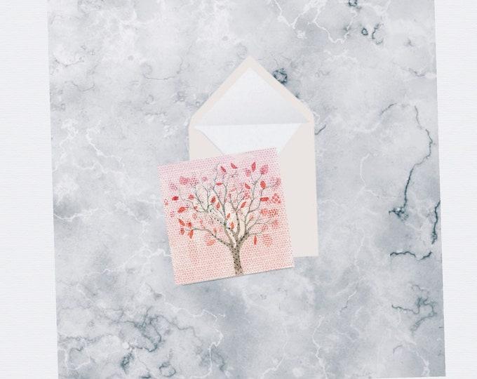 Peace Tree card, birthday card, greeting card, get well card, sympathy card, wedding card, engagement card