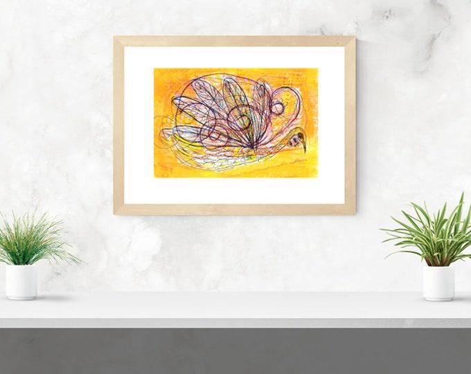 Fluttery framed art print