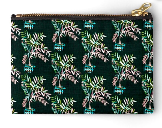 Featured listing image: Palm leaves  fabric pouch