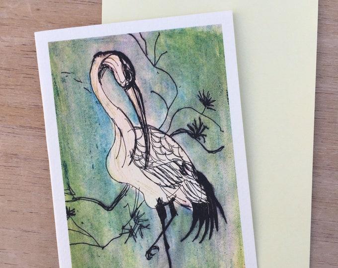 Crane blank greeting card
