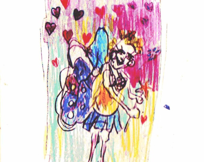 Fairy | original art | greeting card | Recycled card | A5