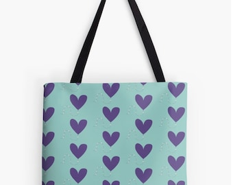 Heart kite floral Tote bag