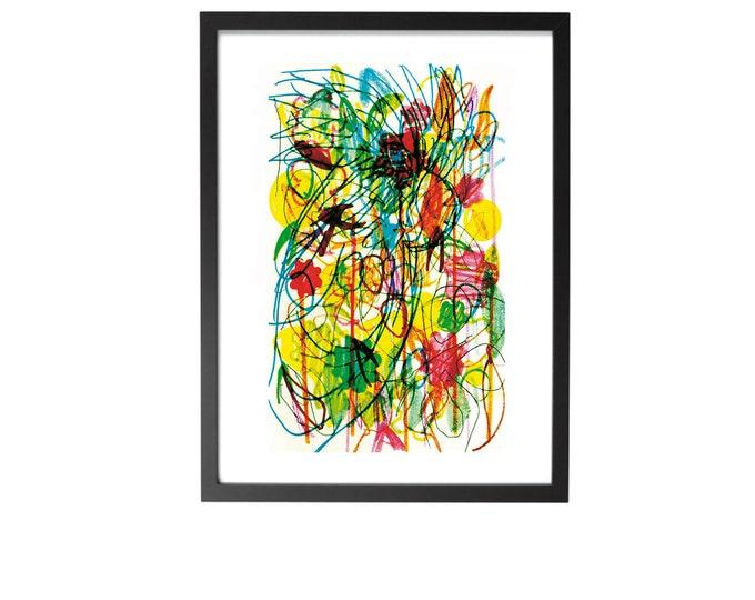 "Cockatoo framed giclée art print A5 6x8"""