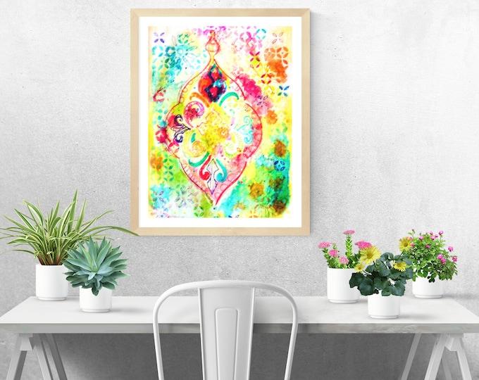Colourful Lantern  framed art print