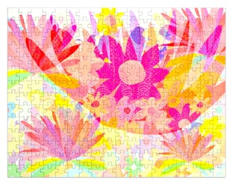 Sixties flower power Jigsaw Puzzle