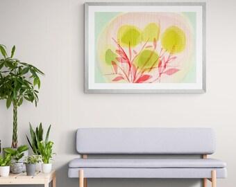 apple flowers framed art print