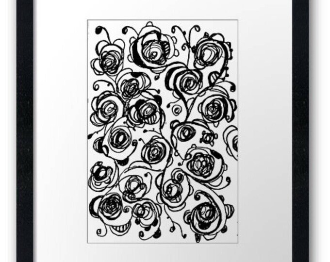 Rosey roses framed art print