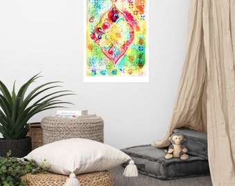 Ornate lanterns unframed art print