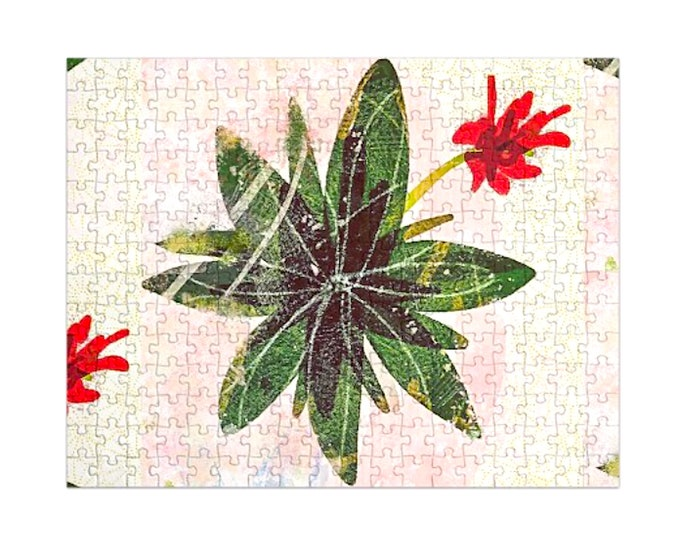 Red succulent flower Jigsaw Puzzle