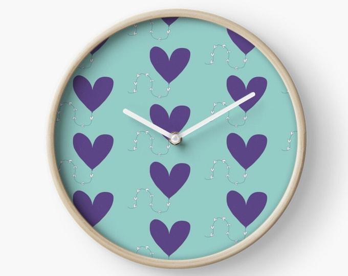Heart kite  clock bamboo clock