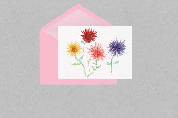 Chrysanthemum floral greeting card