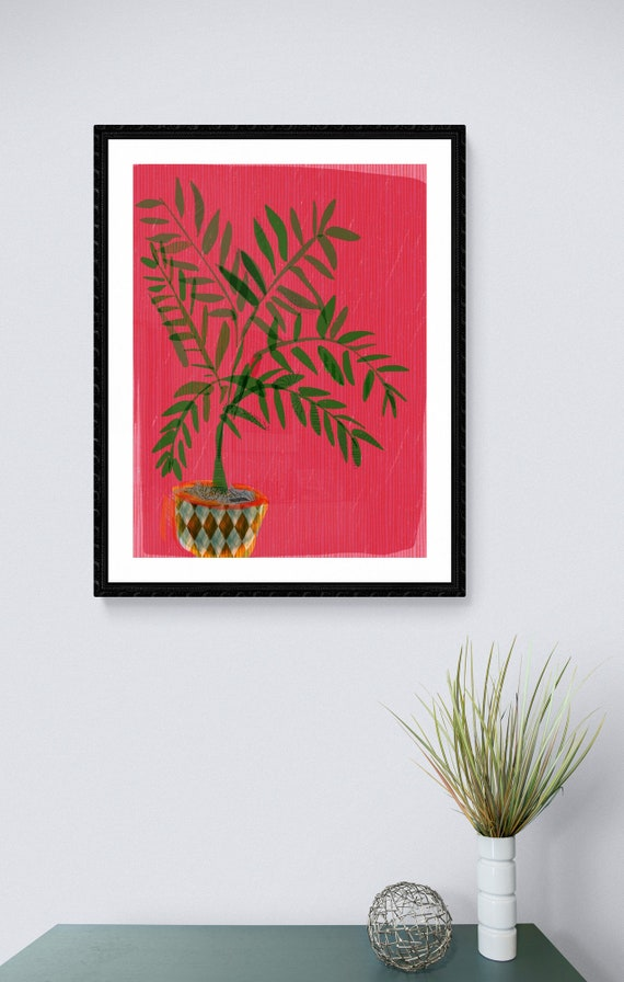 Date palm framed art print