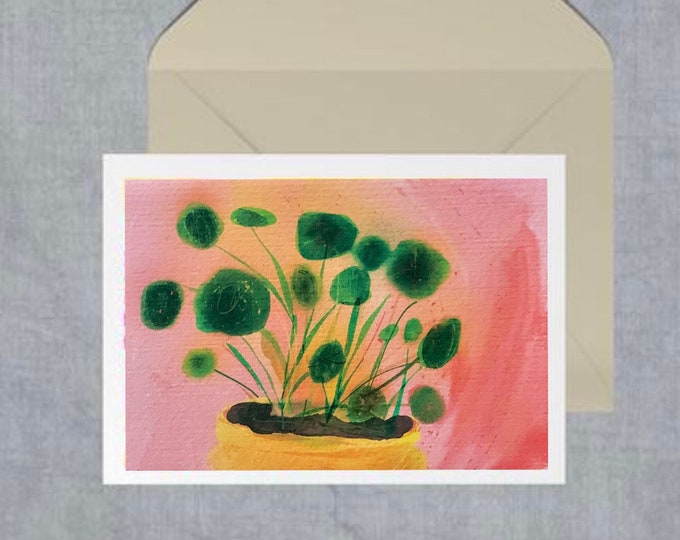 PILEA A6 blank greeting card
