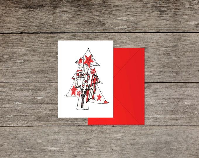 Merry Christmas card celebration greeting card A6 blank inside