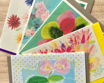 A bunch of florals greeting cards pack of 5