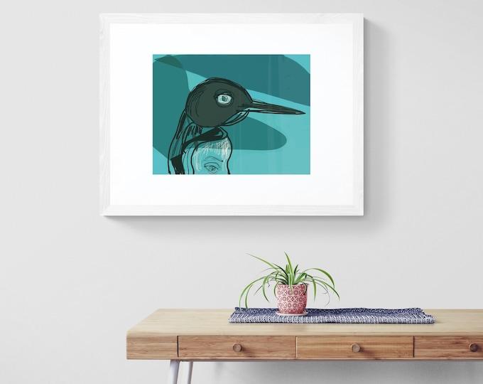 Polar eyes framed art print