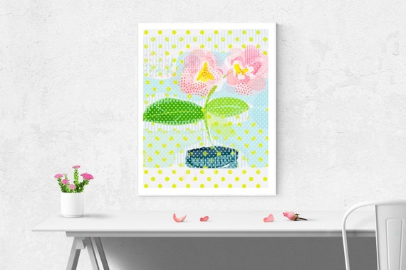 Spotty florals art print