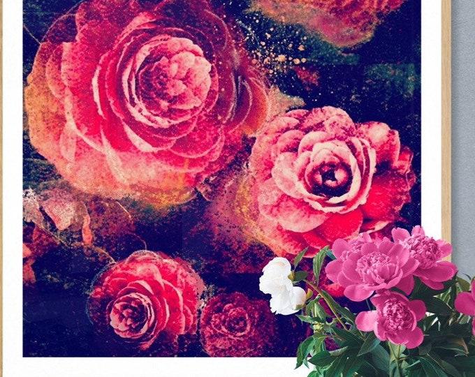 Vintage Camellias framed art print