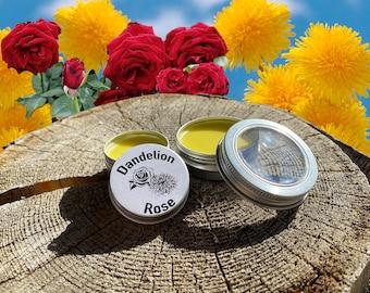 Organic Wildcrafted Dandelion Rose Salve