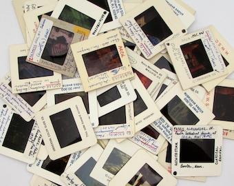 50 architecture slides - random photo slides - buildings design - 35mm Slides - art history - altered art supplies - grab bag