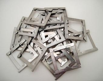 100 Vintage Metal Slide Frames - 2x2 - 35mm Slides - metal frames - small frames