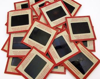 25 Kodachrome Red Border Slides - Vintage Slides - Vintage Photo Slides - Film Slides - 35mm slides - red kodak