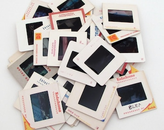 Vintage 35mm Slides in Cardboard Frames - Lot of 50 - Vintage Photo Slides - Picture Slides for Altered Art
