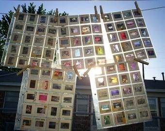 100 Vintage 35mm Slides in Cardboard Frames - Vintage Photo Slides - Picture Slides for Altered Art