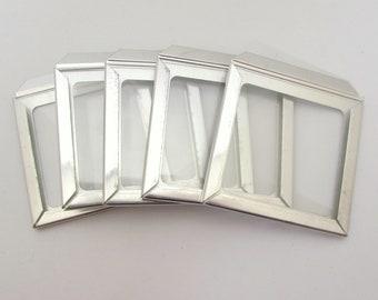 5 glass slide frames - glass frames - empty frames - photo slide frames - 35mm slide frames - collage mixed media ephemera