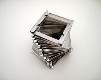 50 Vintage Metal Slide Frames - 2x2 - 35mm Slides - metal frames - small frames - scrapbooking - altered art