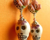 Bones and Roses - Day of the Dead Earrings