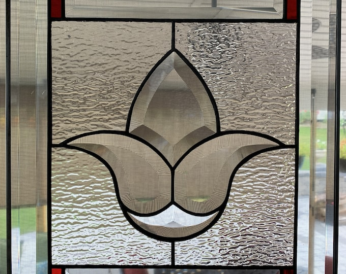 Bevel Flower Stained Glass Panel